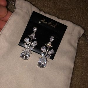 Jim Ball earrings, worn once for wedding!